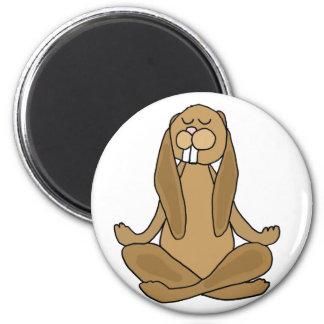 Fun Zen Bunny Rabbit in Yoga Pose Magnet
