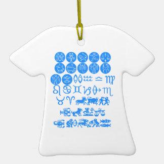FUN  ZODIAC Symbols Ceramic T-Shirt Decoration