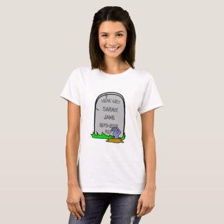 Fun Zombie Gravestone (Add Your Name) T-Shirt