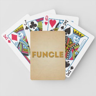 Funcle Retro Inspired Typography Bicycle Playing Cards