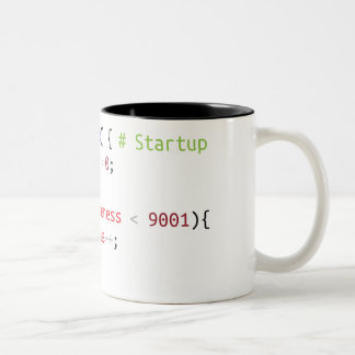 function wakeUp() Two-Tone Coffee Mug