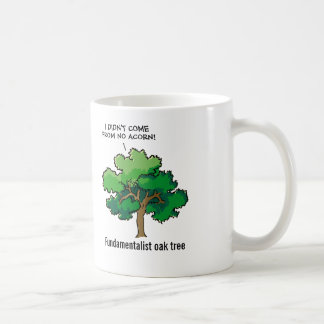Fundamentalist Oak Tree Cartoon Coffee Mug