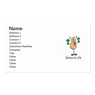 Fundraising Nut T-shirts and Gifts Pack Of Standard Business Cards