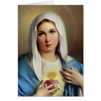 Funeral Holy Card   Italian Mary