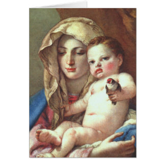 Funeral Holy Card | Madonna of the Goldfinch
