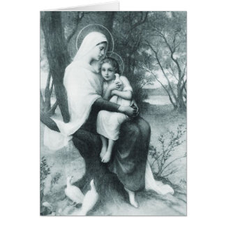 Funeral Holy Card | St Anne & Mary as a Child