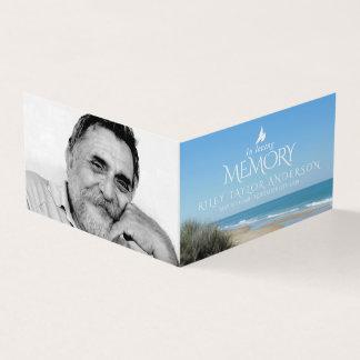 Funeral in loving memory beach poem card