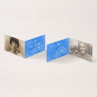 Funeral in loving memory blue rose prayer cards