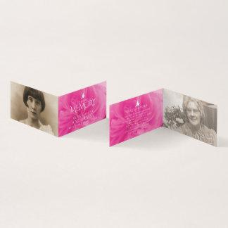 Funeral in loving memory pink rose poem card