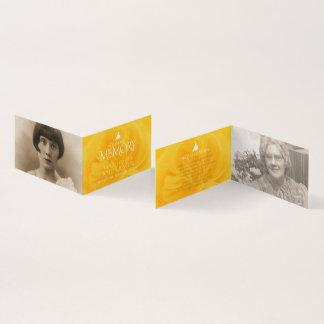 Funeral in loving memory yellow rose poem card