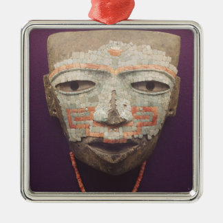 Funeral mask from Teotihuacan Silver-Colored Square Decoration