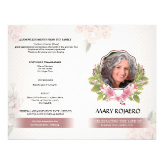 Funeral Order of Service Program Flyer