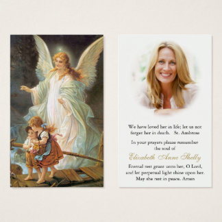 Funeral Prayer Card | Angel Prayer