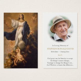 Funeral Prayer Card Assumption of the Virgin Mary