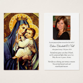 Funeral Prayer Card | Carmal