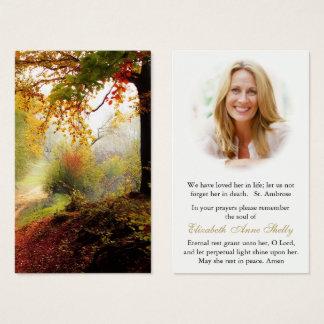 Funeral Prayer Card | Forest