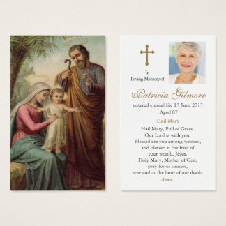 Funeral Prayer Card | Holy Family 1