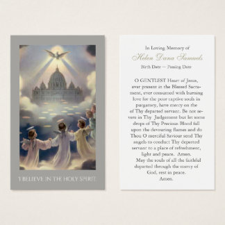 Funeral Prayer Card | I Believe In The Holy Spirit
