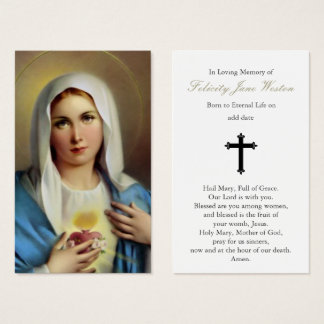 Funeral Prayer Card | Italian Mary