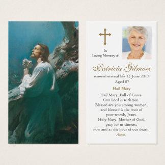 Funeral Prayer Card   Jesus Christ Praying 2