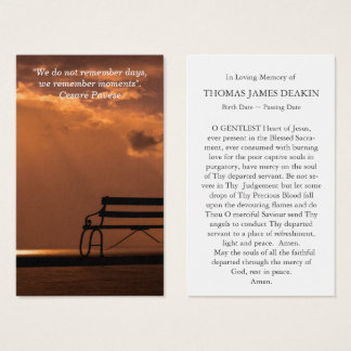 Funeral Prayer Card | Moments