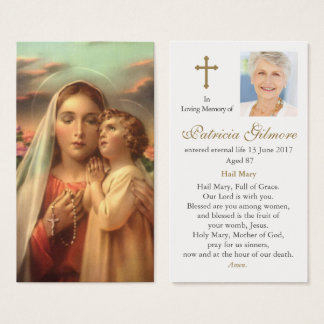 Funeral Prayer Card Mothers Devotion