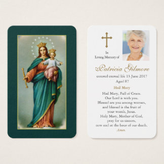 Funeral Prayer Card | Our Lady Help ofChristians 1