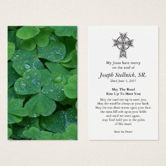 Funeral Prayer Card | Shamrock 2