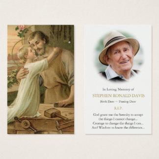 Funeral Prayer Card | St Joseph The Worker