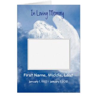 Funeral Program Angel, Scripture, Christian Card