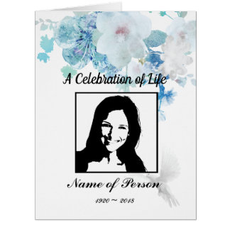 Funeral Program/Memorial/Celebration of Life Card