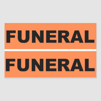 Funeral Rectangular Sticker