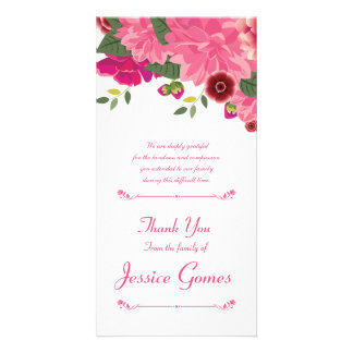 Funeral Thank You Card Photo Card Template