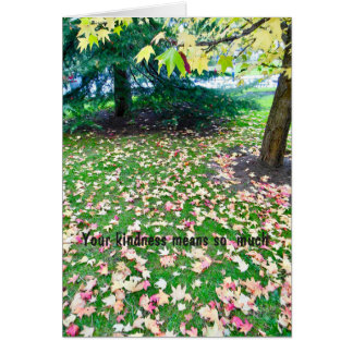 Funeral -Thank You from Family Autumn Leaves Card