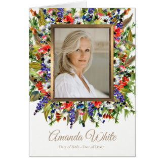 Funeral Thank You Note Card | Forest Florals