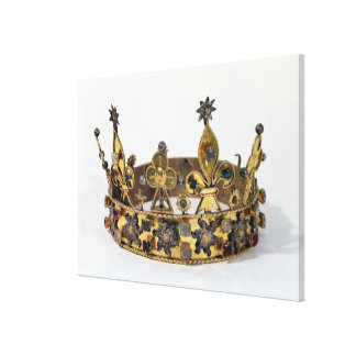Funerary crown of Philippe of France  1404 Canvas Print