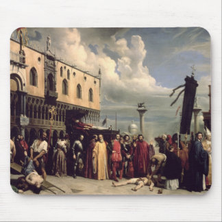 Funerary honours given to Titian who died in Venic Mouse Pad