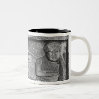 Funerary relief of a couple, from Palmyra, Syria Two-Tone Coffee Mug