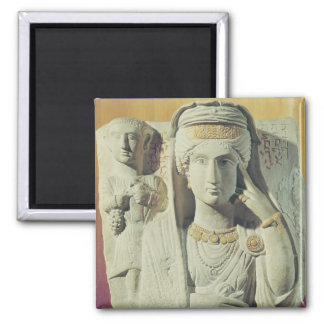Funerary relief with a female figure fridge magnets