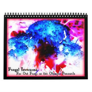 Fungal Inversions Far Out Fungi Olympic Peninsula Wall Calendars