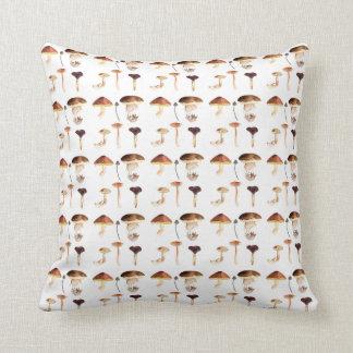 Fungi Art: Watercolour Throw Pillow