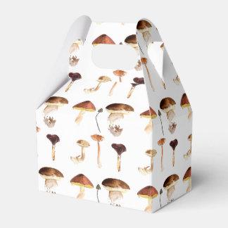 Fungi Art: Watercolour Wedding Favour Box