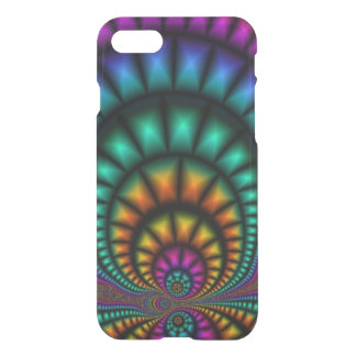 Funhouse Fractals iPhone 7 Clearly™ Deflector Case