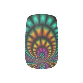 Funhouse Fractals Nail Art