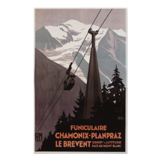 Funiculaire Le Brevent Cable Car Poster