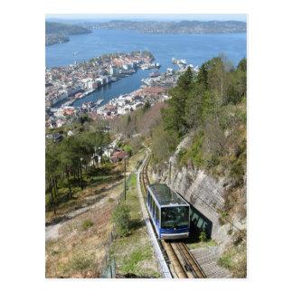 Funicular in Bergen Postcard