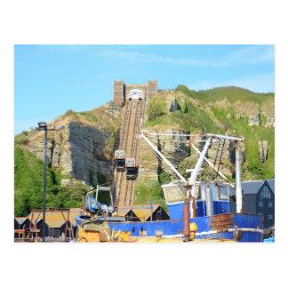 Funicular Railway Hastings Postcard