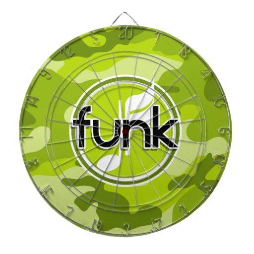Funk; bright green camo, camouflage dartboards