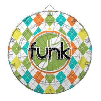 Funk Music; Colorful Argyle Pattern Dart Boards