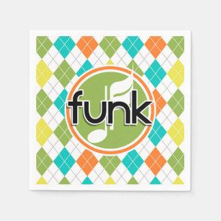 Funk Music; Colorful Argyle Pattern Disposable Serviette